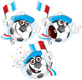 France cartoon ball stock photography