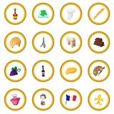France cartoon icon circle Royalty Free Stock Photography