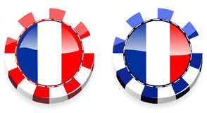 France casino chips Stock Photos