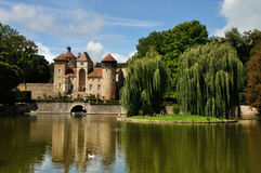 France, castle in Champagne region. France Champagne region, castle with actors Stock Images