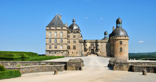 France, castle of Hautefort in Dordogne Royalty Free Stock Photo
