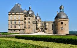 France, castle of Hautefort in Dordogne Stock Photography