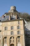 France, castle of La Roche Guyon Stock Photography