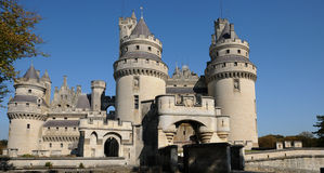 France, castle of Pierrefonds in Picardie Stock Photo