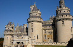 France, castle of Pierrefonds in Picardie Royalty Free Stock Photos