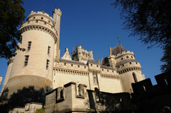 France, castle of Pierrefonds in Picardie Royalty Free Stock Image