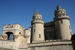 France, castle of Pierrefonds in Picardie Royalty Free Stock Photography