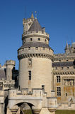 France, castle of Pierrefonds in Picardie Stock Image