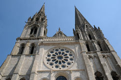 France, the cathedral of Chartres in Eure et Loir Royalty Free Stock Photo