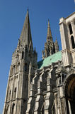 France, the cathedral of Chartres in Eure et Loir Royalty Free Stock Photography