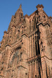 Cathedral of Strasbourg in Alsace Stock Photos