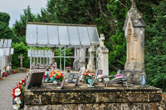 France, cemetery of Saint Vincent le Paluel in Perigord Royalty Free Stock Image