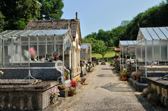 France, cemetery of Sainte Mondane in Perigord Stock Image