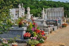 France, cemetery of Veyrignac in Perigord Stock Photography