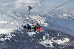 France chairlift Royalty Free Stock Image