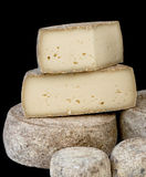 France Cheese. On black background Royalty Free Stock Photo