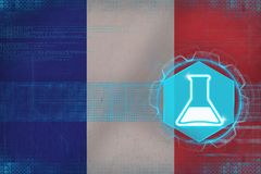 France chemistry. Chemical industry concept. Royalty Free Stock Photos