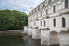 FRANCE, CHENONCEAU - JULY 27, 2014: Detail GALLERIES Château de Royalty Free Stock Photos