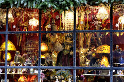 Christmas display window Stock Photo