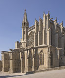 France. The church in the fortress of Carcassonne Royalty Free Stock Photos