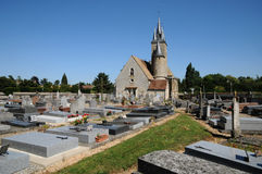 France, the church Saint Georges of Richebourg Stock Image