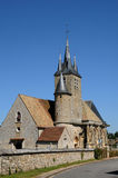 France, the church Saint Georges of Richebourg Royalty Free Stock Photo