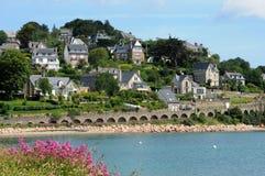 France, a cidade de Perros Guirec Fotografia de Stock