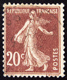 France circa sowing woman 1906 Royalty Free Stock Photo