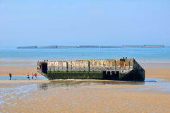 France, city of Arromanches in Normandie Royalty Free Stock Images