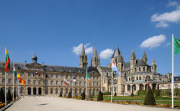 France, the city of Caen in Normandie Stock Images