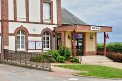 France, city hall of Bois Guilber in Normandie Stock Photography
