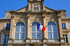 France, city hall of Sees in Normandie Royalty Free Stock Photos