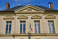 France, the city hall of Themericourt Stock Image