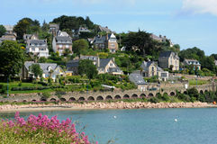 France, the city of Perros Guirec Stock Photography