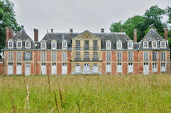 France, classical castle of Mussegros in Normandie Royalty Free Stock Photography
