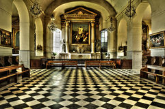 France, the classical church of Marly le Roi Royalty Free Stock Photography