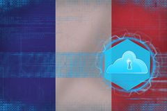 France cloud storage. Cloud storage security concept. Stock Photography