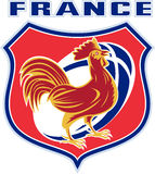 France cockerel rooster rugby ball Stock Photo