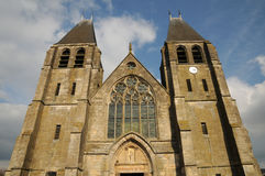 France, the collegiate church of Ecouis in l Eure Royalty Free Stock Photography