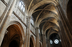 France, collegiate church of Poissy in Les Yvelines Royalty Free Stock Images