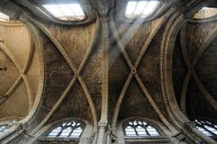 France, collegiate church of Poissy in Les Yvelines Stock Image