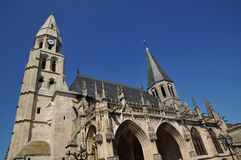 France, collegiate church of Poissy in Les Yvelines Royalty Free Stock Image