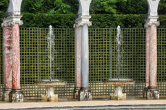 France, Colonnade Grove in Versailles Palace Stock Image