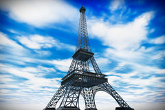 France Concept. Paris Eiffel tower Royalty Free Stock Photography