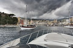France, Corsica, Bastia, view of the port Royalty Free Stock Photos