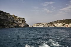 France, Corsica, Bonifacio port entrance Royalty Free Stock Image