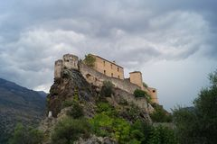France - Corsica - Corte stock images