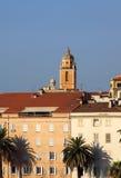 France Corsica Facades of Ajaccio harbor Royalty Free Stock Image