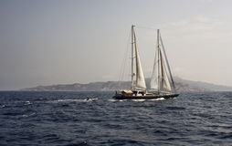 France, Corsica, sailing boat, ketch Royalty Free Stock Photo