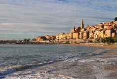 France Cote D'Azur Menton Panorama Stock Photos
